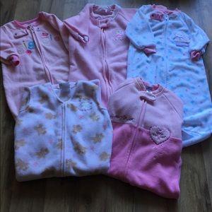 5 baby girl sleep sacks